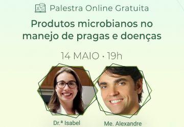 noticia webinar sobre produtos microbianos no manejo de pragas e doenças da biota innovations uberaba mg